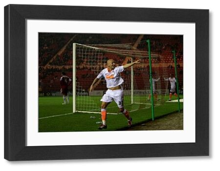 Blackpool's Jonjo Shelvey scores their second goal of the game