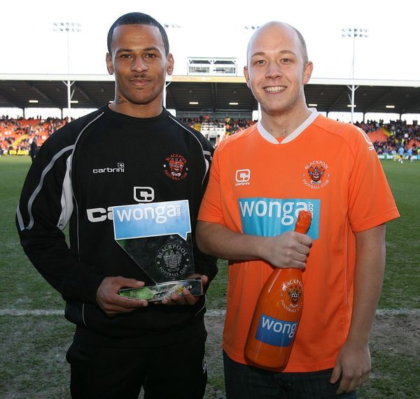Blackpool's Dudley Campbell with guest