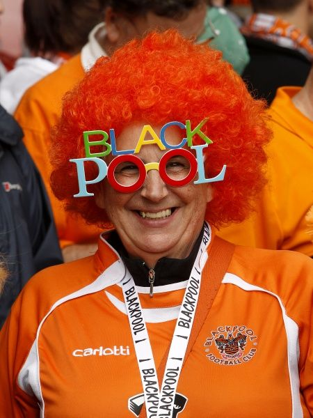 A Blackpool fan in the stands