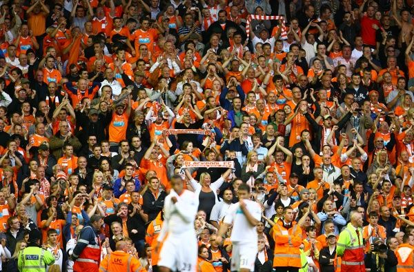 Blackpool fans in the stands