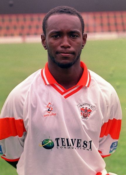 Blackpool FC/Bryan. Marvin Bryan, who plays for Blackpool Football Club