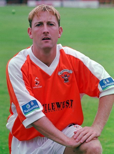 Blackpool FC/Garvey. Steve Garvey, who plays for Blackpool Football Club