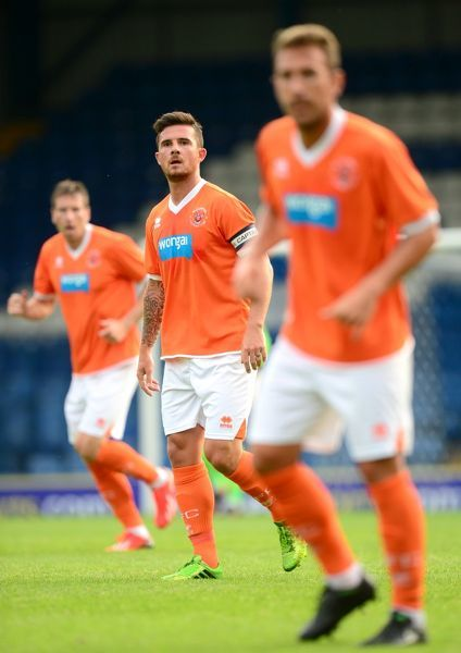 Blackpool's Barry Ferguson in action against Bury