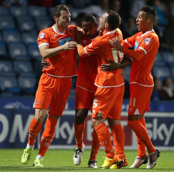 Blackpool's Ricardo Fuller celebrates his goal