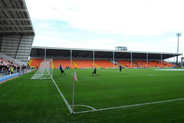 General view of the new East Stand at Bloomfield Road, home of Blackpool