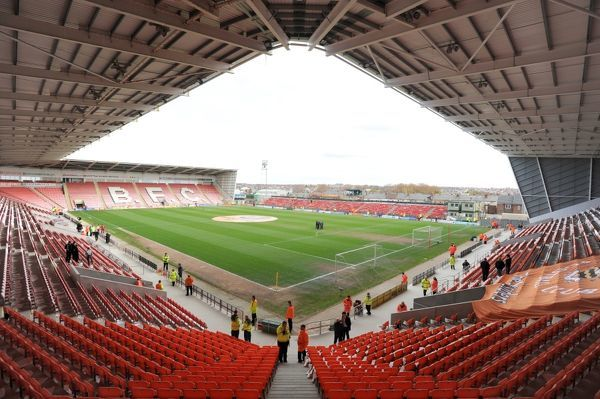 A general view of Bloomfield Road, home of Blackpool