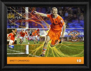 Blackpool Brett Ormerod Framed Player Profile Print
