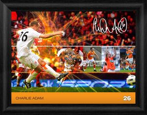 Blackpool Charlie Adam Framed Player Profile Print