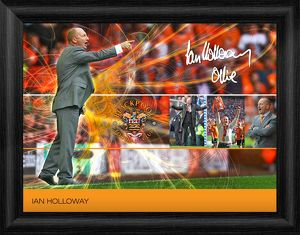 special editions/blackpool ian holloway framed player profile print