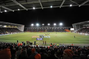 General view of Bloomfield Road as the players take to the pitch for the start of the game