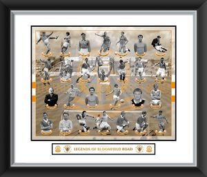 Legends of Bloomfield Road Framed Print