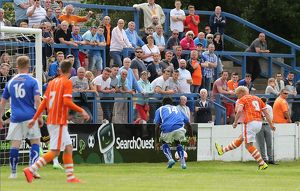 Pre Season Friendly - Lancaster City v Blackpool - Giant Axe