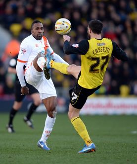 <b>Sky Bet Championship : Watford v Blackpool : Vicarage Road : 01-03-2014</b><br>Selection of 3 items